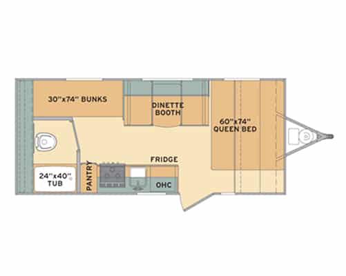 20' Travel Trailer Floorplan