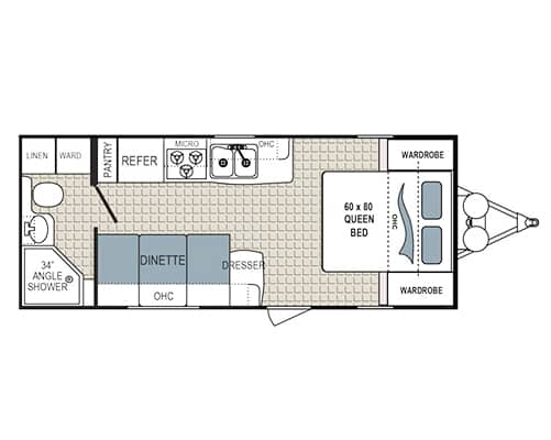 24' Travel Trailer Floorplan