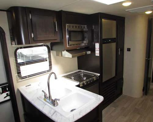 36' Travel Trailer Kitchen