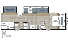36' Travel Trailer Floorplan