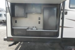 36' Travel Trailer Outside Kitchen