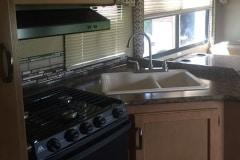 28' Class C Motorhome Kitchen